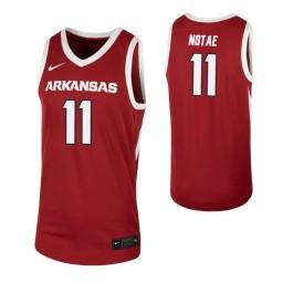 Arkansas Razorbacks #11 JD Notae Cardinal Authentic College Basketball Jersey