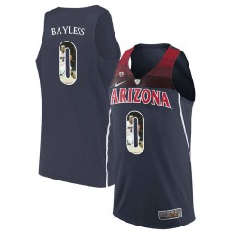 Youth Arizona Wildcats #0 Jerryd Bayless Authentic College Basketball Jersey Navy