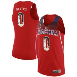 Youth Arizona Wildcats #0 Jerryd Bayless Authentic College Basketball Jersey Red