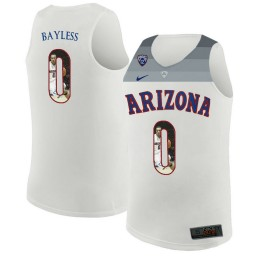 Youth Arizona Wildcats #0 Jerryd Bayless Authentic College Basketball Jersey White