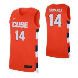 Women's Jesse Edwards Authentic College Basketball Jersey Orange Syracuse Orange