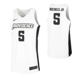 Women's Jimmy Nichols Jr. Authentic College Basketball Jersey White Providence Friars