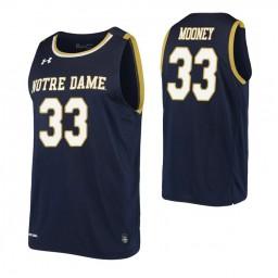 John Mooney Authentic College Basketball Jersey Navy Notre Dame Fighting Irish
