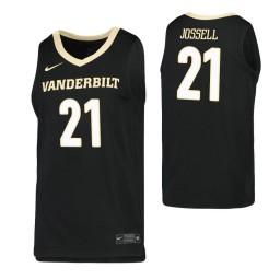 Youth Jon Jossell Authentic College Basketball Jersey Black Vanderbilt Commodores