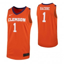 Youth Clemson Tigers #1 Jonathan Baehre Orange Authentic College Basketball Jersey