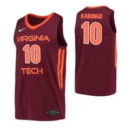 Women's Virginia Tech Hokies #10 Jonathan Kabongo Maroon Authentic College Basketball Jersey
