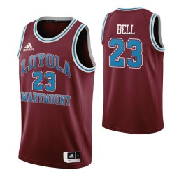 Youth Loyola Marymount Lions #23 Jordan Bell Wine Authentic College Basketball Jersey