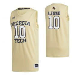 Georgia Tech Yellow Jackets 10 Jose Alvarado Swingman Jersey Gold