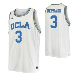 Women's Jules Bernard Authentic College Basketball Jersey White UCLA Bruins