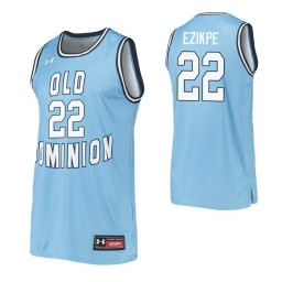 Women's Kalu Ezikpe Authentic College Basketball Jersey Blue Old Dominion Monarchs