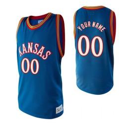 Kansas Jayhawks Custom  College Basketball Alumni Jersey Royal