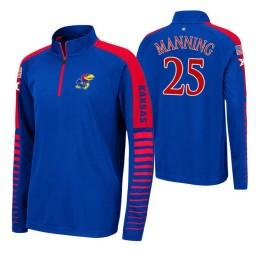 Kansas Jayhawks Danny Manning Royal Rockzilla Raglan Quarter-Zip Jacket