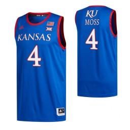Youth Isaiah Moss Kansas Jayhawks Royal Authentic College Basketball Jersey