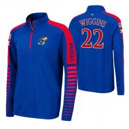 Kansas Jayhawks Marcus Morris Royal Rockzilla Raglan Quarter-Zip Jacket