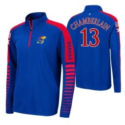 Kansas Jayhawks Wilt Chamberlain Royal Rockzilla Raglan Quarter-Zip Jacket