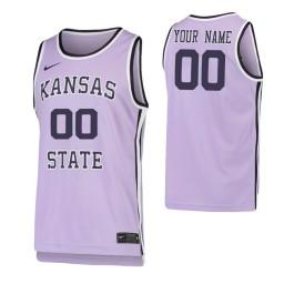 Kansas State Wildcats Replica Custom Jersey Purple