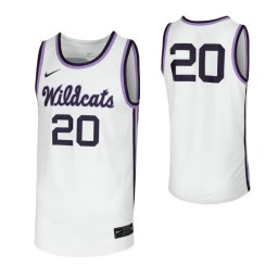 Kansas State Wildcats #20 Authentic College Basketball Jersey White