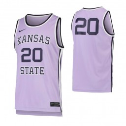 Kansas State Wildcats #20 College Authentic College Basketball Jersey Purple