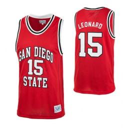 San Diego State Aztecs #15 Kawhi Leonard Authentic College Basketball Jersey Red