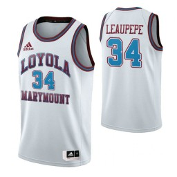 Youth Loyola Marymount Lions #34 Keli Leaupepe White Authentic College Basketball Jersey