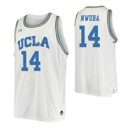 Women's Kenneth Nwuba Authentic College Basketball Jersey White UCLA Bruins