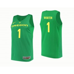 Youth Oregon Ducks #1 Kenny Wooten Authentic College Basketball Jersey Green