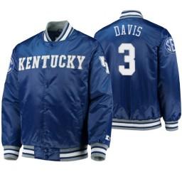 Kentucky Wildcats Bam Adebayo Royal O-Line Varsity Full-Button Satin Jacket