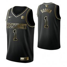 Devin Booker Kentucky Wildcats Black Golden Edition Authentic College Basketball Jersey