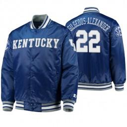 Kentucky Wildcats Shai Gilgeous-Alexander Royal O-Line Varsity Full-Button Satin Jacket