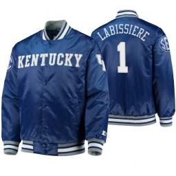 Kentucky Wildcats Skal Labissiere Royal O-Line Varsity Full-Button Satin Jacket