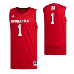 Women's Nebraska Cornhuskers 1 Kevin Cross Authentic College Basketball Jersey Scarlet