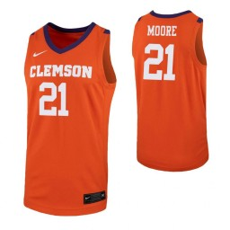 Youth Clemson Tigers #21 Khavon Moore Orange Authentic College Basketball Jersey