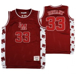 Lower Merion Kobe Bryant #33 Aces Alternate High School Basketball Authentic College Basketball Jersey Red