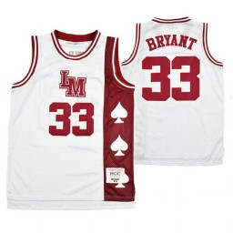 Lower Merion Kobe Bryant #33 Aces Alternate High School Basketball Authentic College Basketball Jersey White