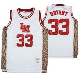 Lower Merion Kobe Bryant #33 Aternate High School Basketball Authentic College Basketball Jersey White