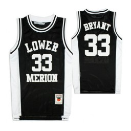 Lower Merion Kobe Bryant #33 High School Basketball Authentic College Basketball Jersey Black