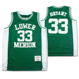 Lower Merion Kobe Bryant #33 High School Basketball Authentic College Basketball Jersey Green