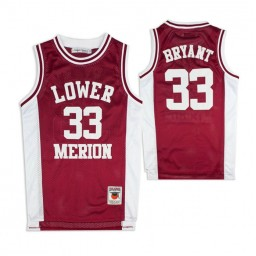 Lower Merion Kobe Bryant #33 High School Basketball Authentic College Basketball Jersey Maroon White