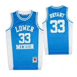 Lower Merion Kobe Bryant #33 High School Basketball Authentic College Basketball Jersey Sky Blue