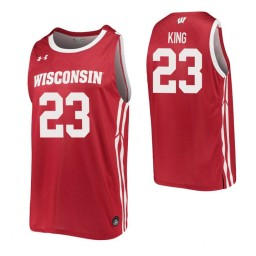 Kobe King Authentic College Basketball Jersey Red Wisconsin Badgers