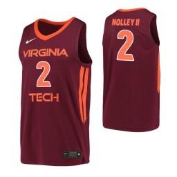 Women's Landers Nolley II Authentic College Basketball Jersey Maroon Virginia Tech Hokies