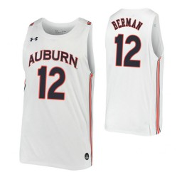 Auburn Tigers #12 Lior Berman White Authentic College Basketball Jersey