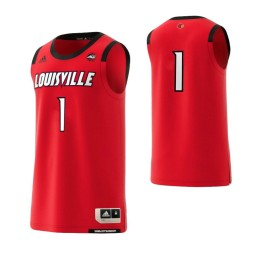 Women's Louisville Cardinals #1 Basketball Adidas Authentic College Basketball Jersey Red