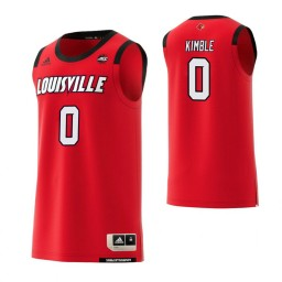 Women's Louisville Cardinals #0 Lamarr Kimble Authentic College Basketball Jersey Red