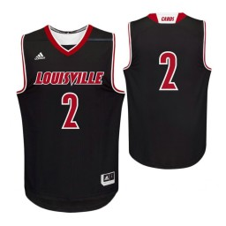 Louisville Cardinals #2 Authentic College Basketball Jersey Black