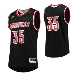 Louisville Cardinals #35 Authentic College Basketball Jersey Black