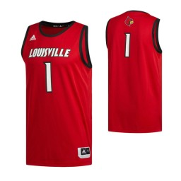 Women's Louisville Cardinals #1 Basketball Authentic College Basketball Jersey Red