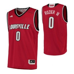 Women's Louisville Cardinals #0 Terry Rozier III Authentic College Basketball Jersey Red