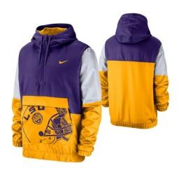LSU Tigers Purple Colorblock Anorak Quarter-Zip Jacket