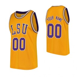 LSU Tigers Custom Replica College Basketball Jersey Gold